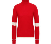 Wool And Cashmere-blend Turtleneck Sweater Red