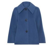 Woman Eileen Wool-blend Felt Jacket Blue