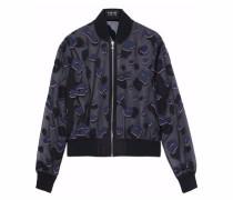 Embellished embroidered silk-organza jacket