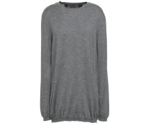 Mélange Cashmere And Silk-blend Sweater Gray