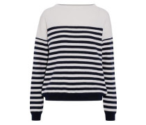 Margot Striped Merino Wool Sweater Ivory