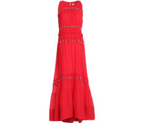 Tiered crepe gown