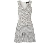 Wrap-effect Polka-dot Silk-georgette Mini Dress White