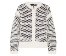 Open-knit cotton-blend cardigan