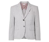 Cotton-seersucker Blazer Gray