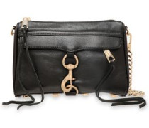 Woman Chain-trimmed Textured-leather Shoulder Bag Black