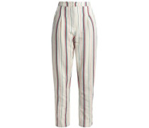 Antonio Striped Cotton-canvas Tapered Pants Ivory