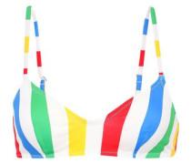 The Rachel Striped Bikini Top Multicolor