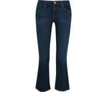 Le Crop Mini Mid-rise Bootcut Jeans Dark Denim  6