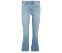 Cali Cropped High-rise Bootcut Jeans Light Denim  8