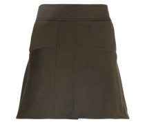 Cotton-blend Twill Mini Skirt Army Green