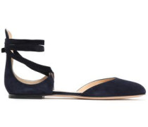 Suede Ballet Flats Midnight Blue