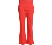 Canvas Bootcut Pants Papaya