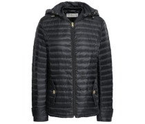 Quilted Shell Hooded Jacket Black