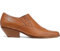 Eagan Leather Ankle Boots Camel