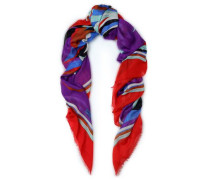 Printed Cashmere And Silk-blend Scarf Multicolor Size ONESIZE