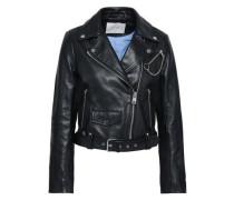 Bassung leather biker jacket