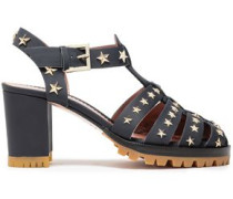 Studded Leather Sandals Midnight Blue