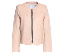 Evissa scalloped leather jacket