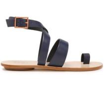 Hallie Leather Sandals Midnight Blue