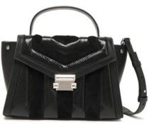 Suede, Snake-effect And Smoother Leather Shoulder Bag Black Size --