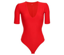 Ludlow Stretch-jersey Thong Bodysuit Tomato Red