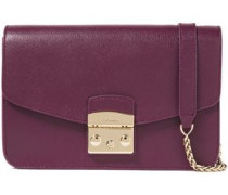 Metropolis Textured-leather Shoulder Bag Plum Size --