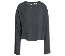 Frayed woven top