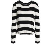 Striped intarsia-knit sweater