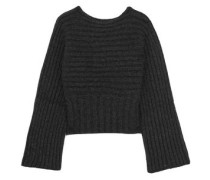 Ribbed Alpaca-blend Sweater Charcoal