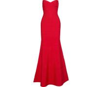 Sara Strapless Fluted Bandage Dress Red