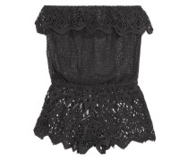 Sun Warrior Nina Guipure Lace Shorts Charcoal