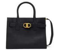 Textured-leather Tote Black Size --