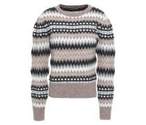 Wool-blend Jacquard Sweater Mushroom