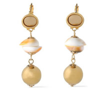Gold-plated Shell Earrings Gold Size --
