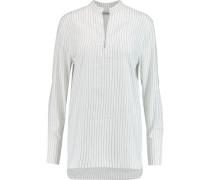 Cairo striped cotton and linen-blend shirt