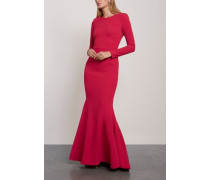 Bree Open-back Crepe Gown Magenta