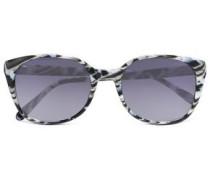 Square-frame Printed Acetate Sunglasses White Size --