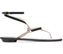 Crystal-embellished Suede Sandals Black