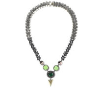 10-karat Gold-plated, Stone And Crystal Necklace Lime Green Size --