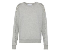 Nakina Lace-up Cotton Sweatshirt Stone