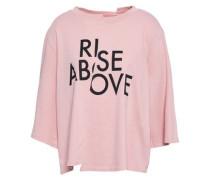 Asymmetric Printed Cotton-jersey Top Blush
