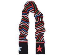 Striped Wool And Cashmere-blend Scarf Multicolor Size --