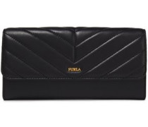 Woman Magia Quilted Leather Continental Wallet Black