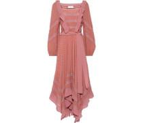 Unbridled Hanky Swiss-dot Silk-chiffon Midi Dress Antique Rose Size 0