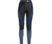 Paneled stretch leggings