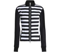 Striped mesh jacket