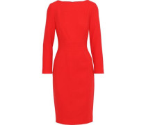 Stretch-wool Crepe Dress Tomato Red Size 12