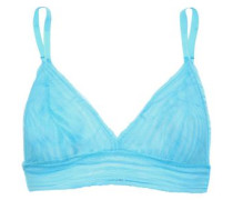 Sweet Treats Stretch-lace Bralette Sky Blue