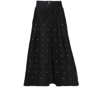 Embellished silk-faille maxi skirt